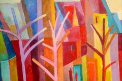 10. Häuser hinter Bäumen