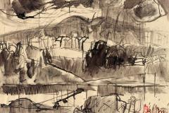 Rokkasho Blick über den Fluss 1997